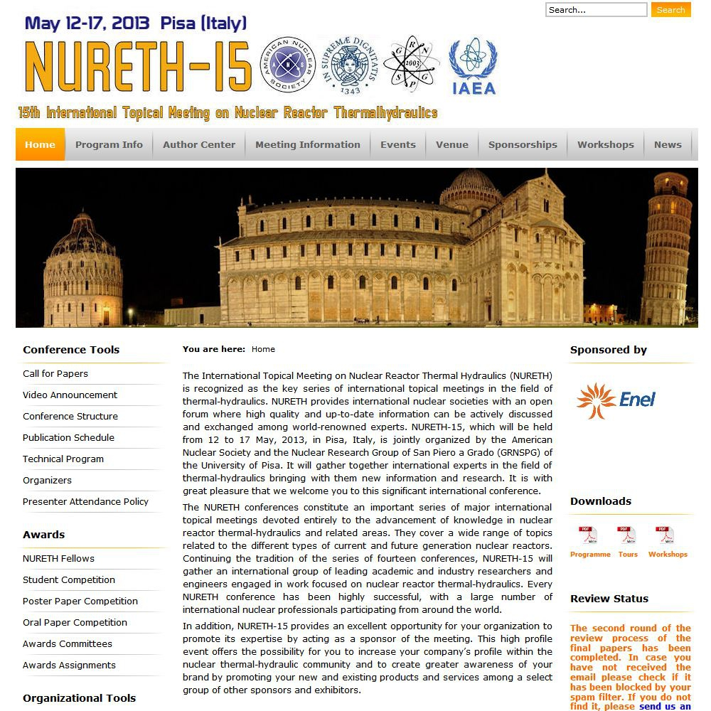 15th International Topical Meeting on Nuclear Reactor Thermal Hydraulics