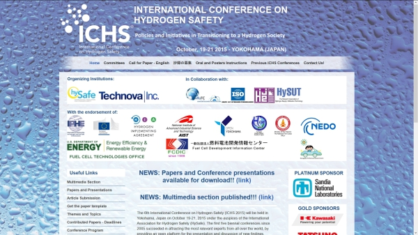 6th International Conference on Hydrogen Safety